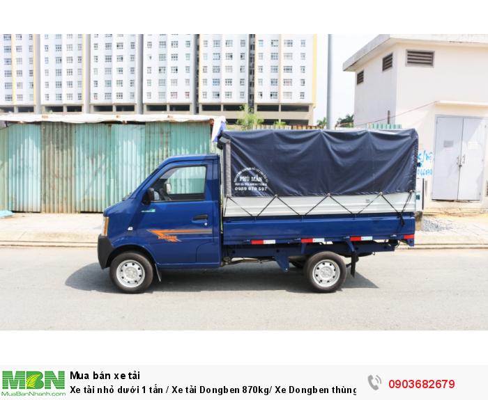 Bán xe tải nhỏ dưới 1 tấn / Xe tải Dongben 870kg/ Xe Dongben thùng mui bạt 870kg giá tốt 0