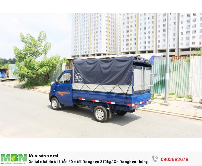 Bán xe tải nhỏ dưới 1 tấn / Xe tải Dongben 870kg/ Xe Dongben thùng mui bạt 870kg giá tốt 1
