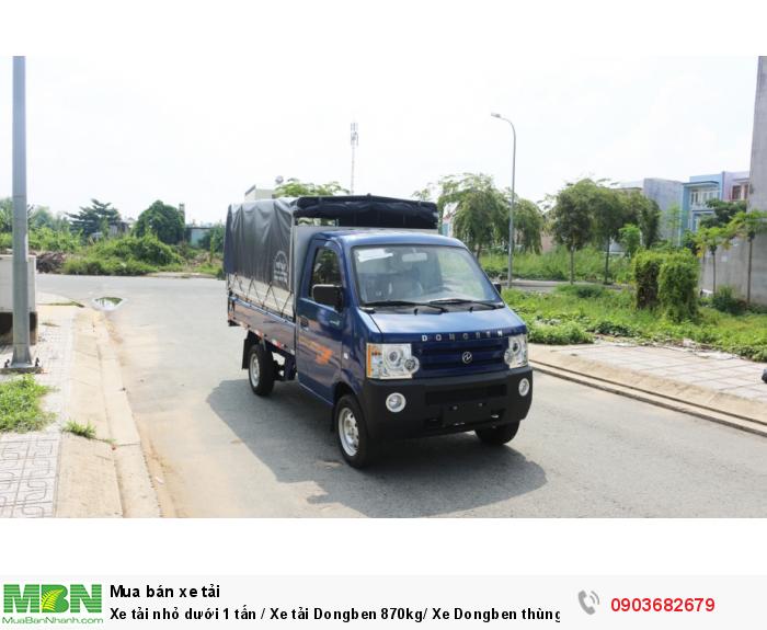 Bán xe tải nhỏ dưới 1 tấn / Xe tải Dongben 870kg/ Xe Dongben thùng mui bạt 870kg giá tốt 2