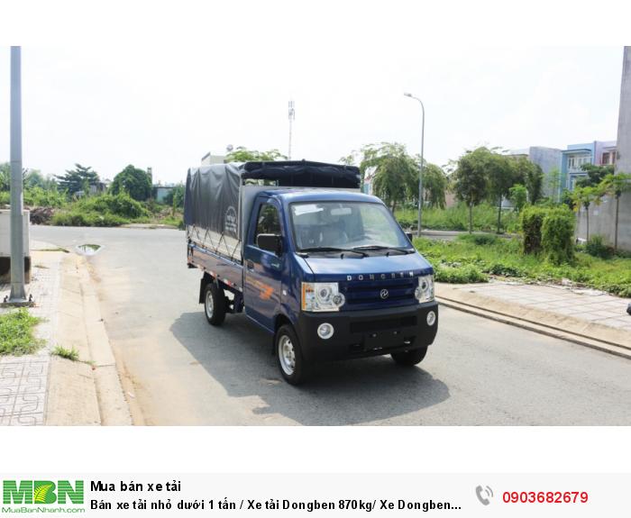 Bán xe tải nhỏ dưới 1 tấn / Xe tải Dongben 870kg/ Xe Dongben thùng mui bạt 870kg giá tốt 3