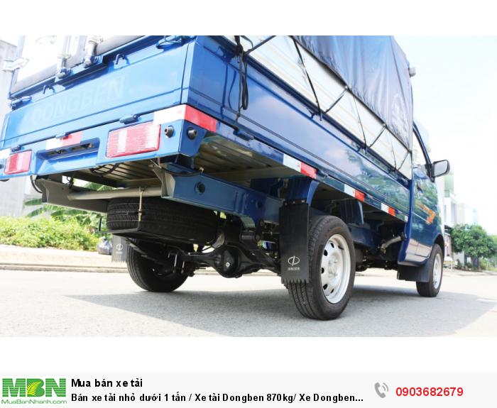 Bán xe tải nhỏ dưới 1 tấn / Xe tải Dongben 870kg/ Xe Dongben thùng mui bạt 870kg giá tốt 4