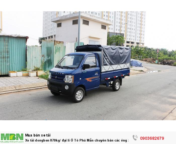 Xe tải dongben 870kg/ đại lí Ô Tô Phú Mẫn chuyên bán các òng xe tải nhẹ 0