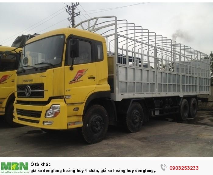 Giá xe Dongfeng Hoàng Huy 4 chân 17t9, 19 tấn