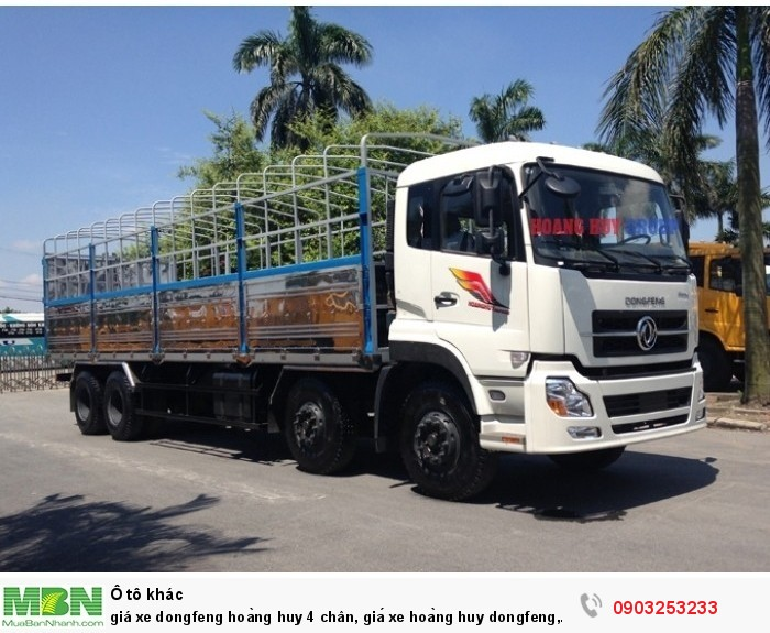 Giá xe Dongfeng Hoàng Huy 4 chân 17t9, 19 tấn 1