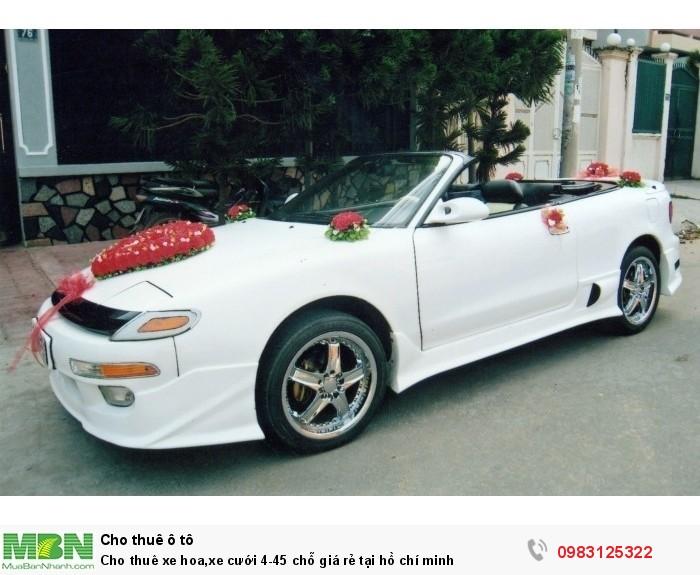 Cho thuê xe hoa,xe cưới 4-45 chỗ giá rẻ tại hồ chí minh
