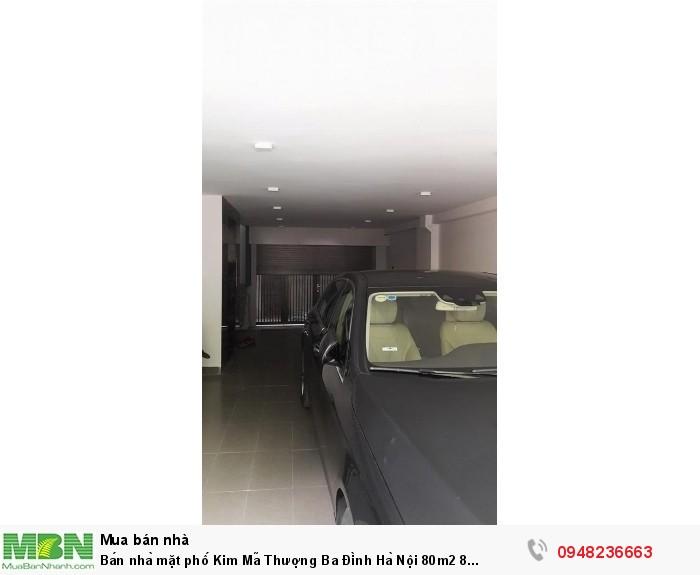 Bán nhà mặt phố Kim Mã Thượng Ba Đình Hà Nội 80m2 8 tầng mặt tiền 6m