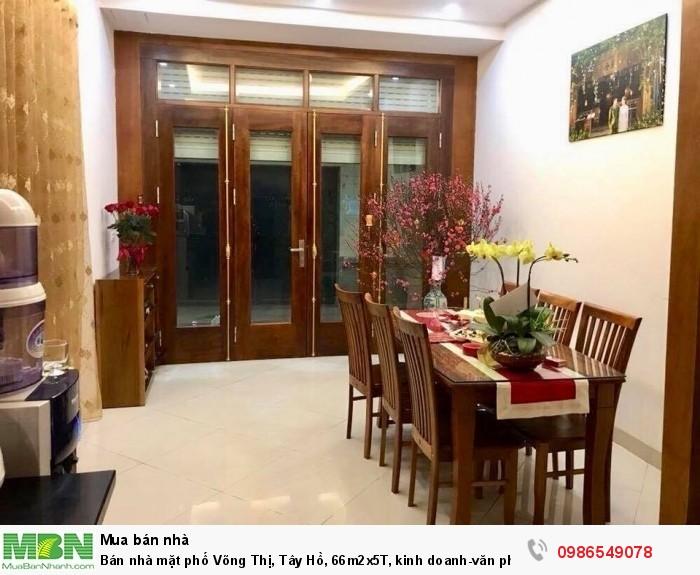 Bán nhà mặt phố Võng Thị, Tây Hồ, 66m2x5T, kinh doanh-văn phòng, một bước ra Hồ Tây, 11.2 tỷ.