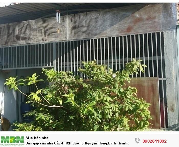 Bán gấp căn nhà Cấp 4 HXH đường Nguyên Hồng,Bình Thạnh: