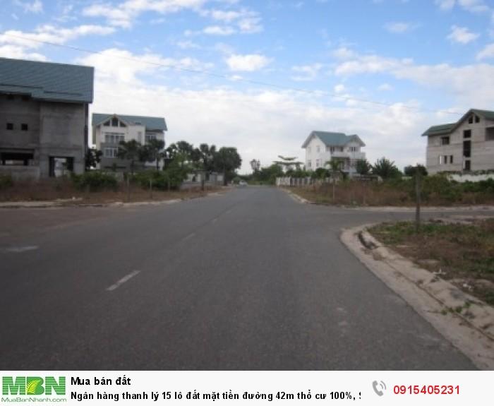 Ngân hàng thanh lý 15 lô đất mặt tiền đường 42m thổ cư 100%, SHR
