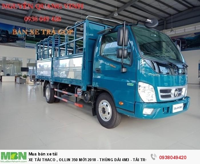 Xe Tải Thaco Ollin 350.E4 - Mới nhất hiện tại - Thùng Dài 4m4 - Tải Trọng 2,15 & 3,49 tấn - Hổ Trợ Trả Góp