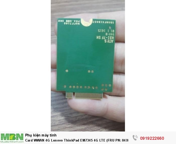 Card WWAN 4G Lenovo ThinkPad EM7345 4G LTE (FRU PN: 04X6014) dùng cho X240,X250,T440,T450s1
