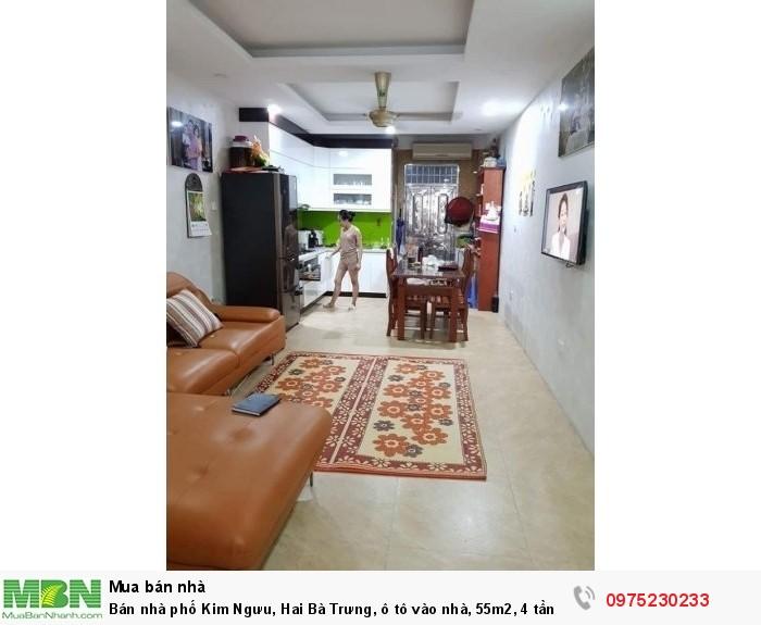 Bán nhà phố Kim Ngưu, Hai Bà Trưng, ô tô vào nhà, 55m2, 4 tầng.