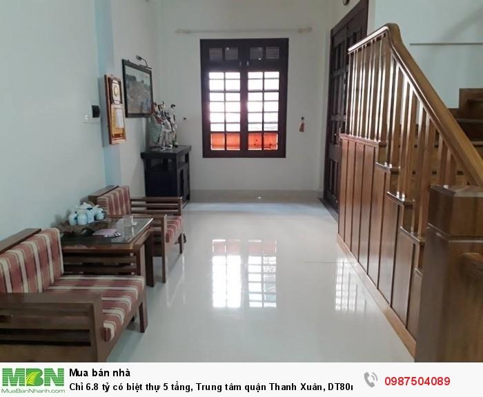 Chỉ 6.8 tỷ có biệt thự 5 tầng, Trung tâm quận Thanh Xuân, DT80m2, Lô góc 2 mặt thoáng.