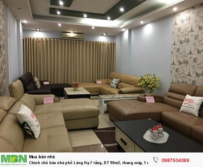 Chính chủ bán nhà phố Láng Hạ 7 tầng, DT 90m2, thang máy, 1 mặt phố 1 mặt ngõ, kinh doanh, cho thuê 2500$