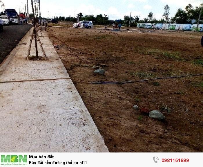 Bán đất nền đường thổ cư hl11
