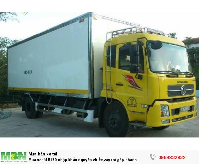 Dongfeng B170 sản xuất năm 2018 Số tay (số sàn) Xe tải động cơ Dầu diesel