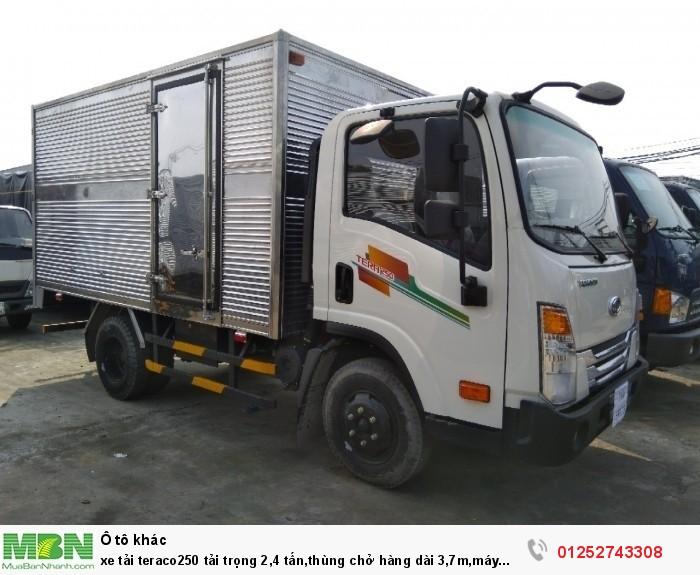xe tải teraco250 tải trọng 2,4 tấn,thùng chở hàng dài 3,7m,máy huydai hàn quốc mới nhất 2018