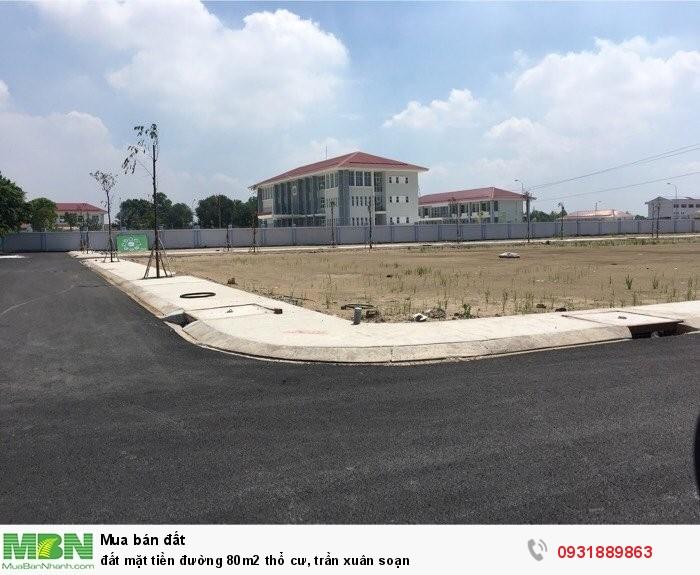Đất mặt tiền đường 80m2 thổ cư, Trần Xuân Soạn
