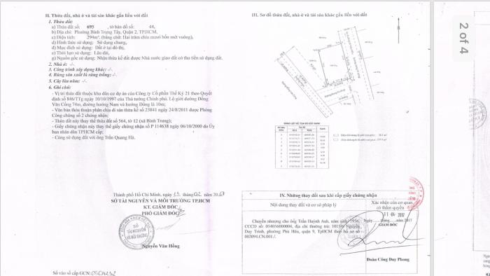 Bán đất biệt thư 300m2 Q2 giá rẻ, bán gấp đi định cư