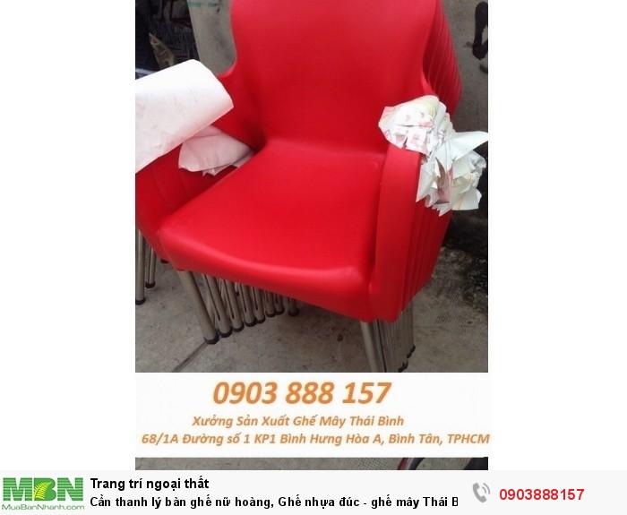 Cần thanh lý  bàn ghế nữ hoàng, Ghế nhựa đúc - ghế mây Thái Bình