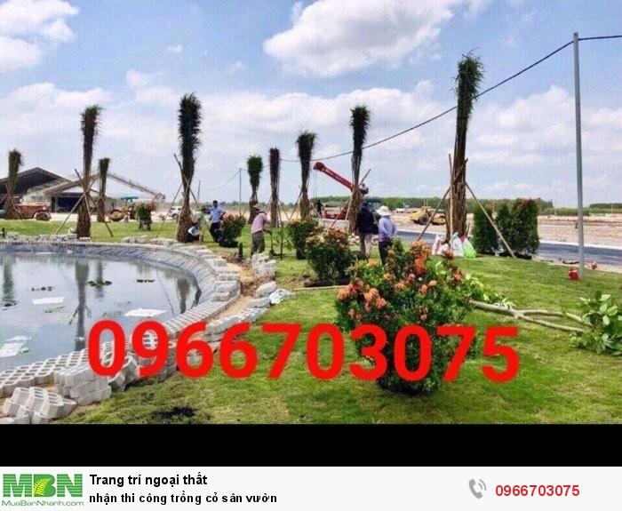 Nhận thi công trồng cỏ sân vườn1
