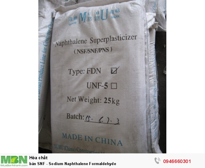 Bán SNF - Sodium Naphthalene Formaldehyde1