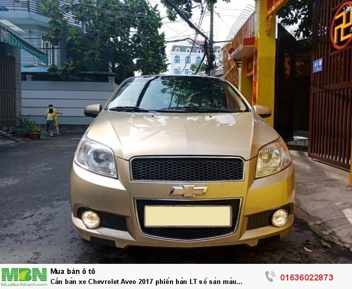 Cần bán xe Chevrolet Aveo 2017 phiển bản LT số sàn màu vàng đồng