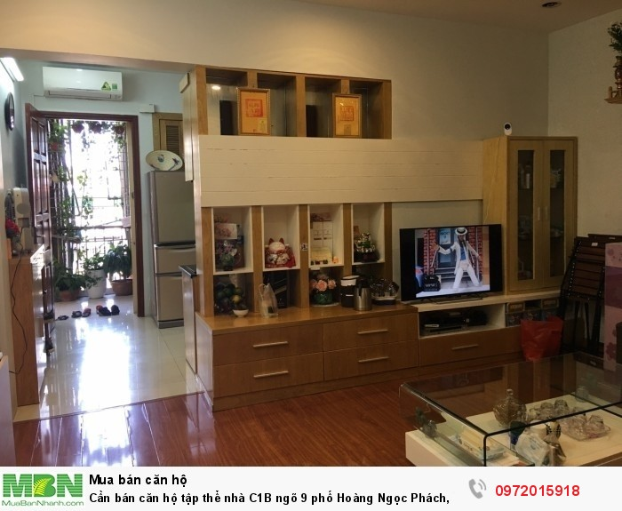 Cần bán căn hộ tập thể nhà C1B ngõ 9 phố Hoàng Ngọc Phách, P. Láng Hạ, 70m2, 2PN,