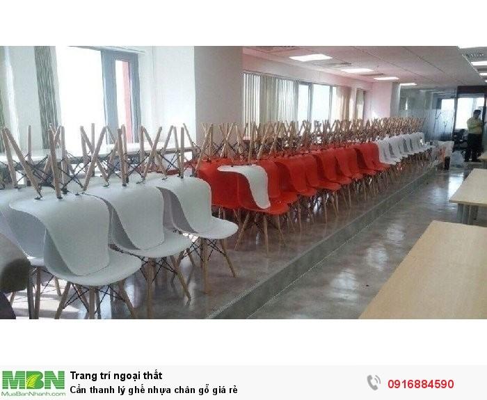 Cần thanh lý ghế nhựa chân gỗ giá rẻ