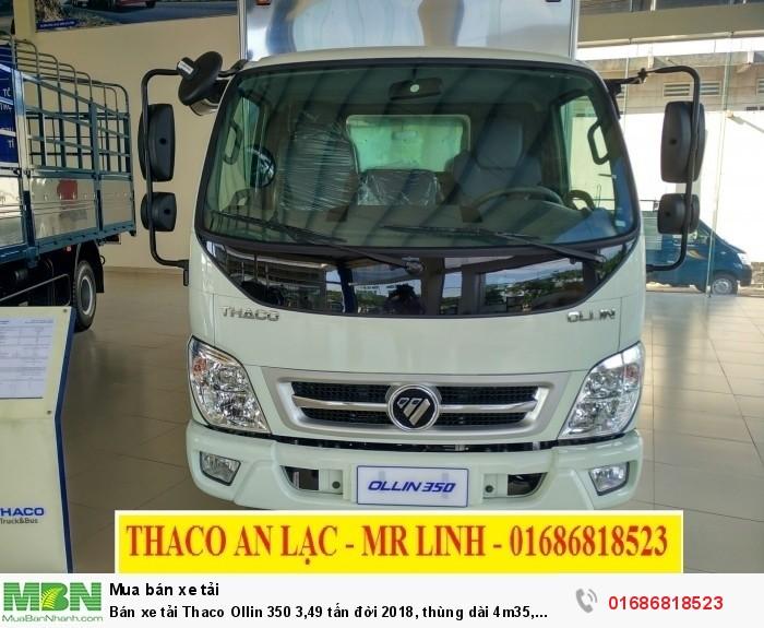 Bán xe tải Thaco Ollin 350 3,49 tấn đời 2018, thùng dài 4m35, động cơ Euro 4