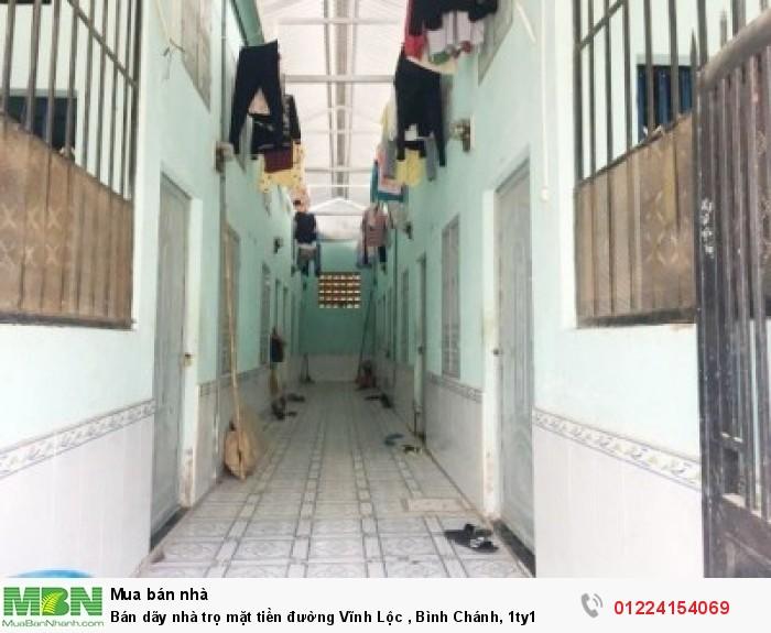 Bán dãy nhà trọ mặt tiền đường Vĩnh Lộc , Bình Chánh