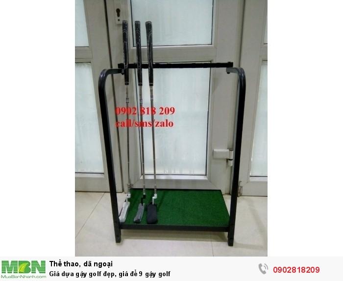 Giá dựa gậy golf đẹp, giá để 9 gậy golf0