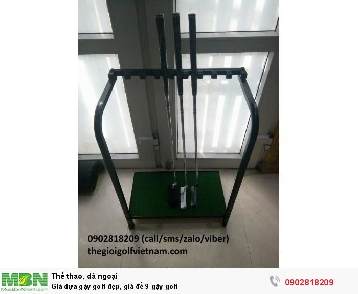 Giá dựa gậy golf đẹp, giá để 9 gậy golf2