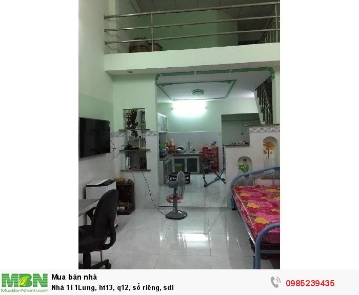 Nhà 1T1Lung, ht13, q12, sổ riêng, sdl