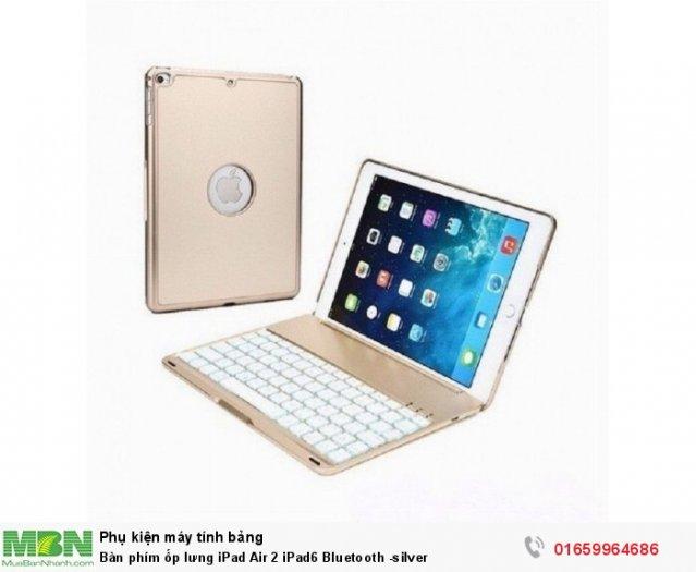Bàn phím ốp lưng iPad Air 2 iPad6 Bluetooth -silver0