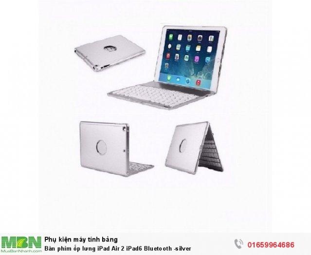 Bàn phím ốp lưng iPad Air 2 iPad6 Bluetooth -silver1