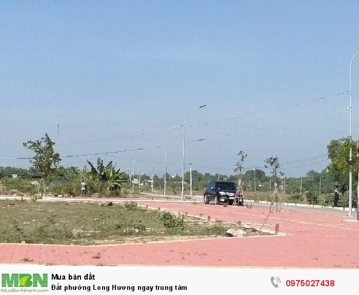 Đất phường Long Hương ngay trung tâm