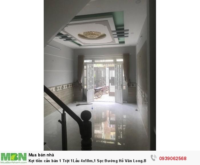 Kẹt tiền cần bán 1 Trệt 1Lầu 4x10m,1 Sẹc Đường Hồ Văn Long.Bình Hưng Hoà B,Bình Tân