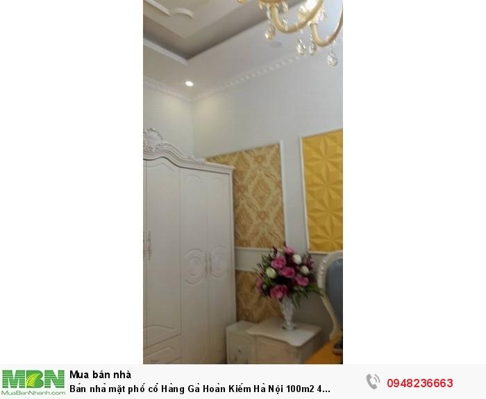 Bán nhà mặt phố cổ Hàng Gà Hoàn Kiếm Hà Nội 100m2 4 tầng mặt tiền 4m