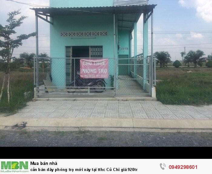 Cần bán dãy phòng trọ mới xây tại tthc Củ Chi giá 920tr
