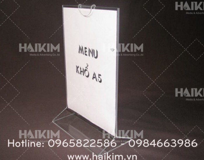 Khay menu, Khay mica để menu2