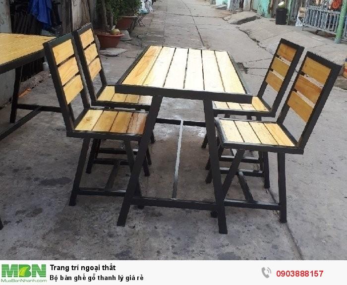 Bộ bàn ghế gỗ thanh lý giá rẻ