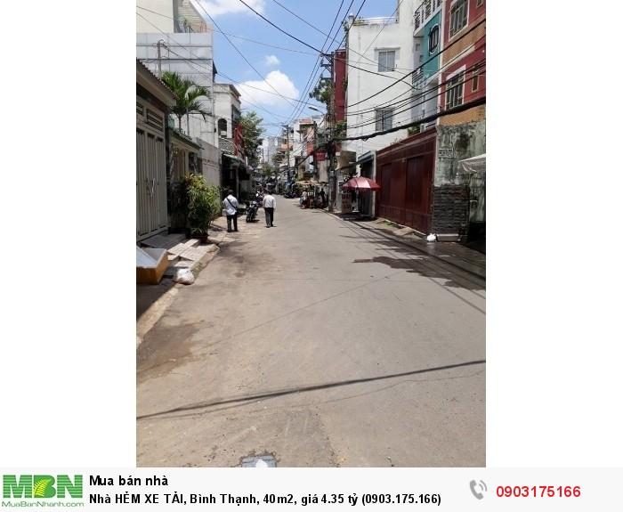 Nhà HẺM XE TẢI, Bình Thạnh, 40m2