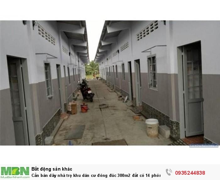 Cần bán dãy nhà trọ khu dân cư đông đúc 300m2 đất có 14 phòng trọ