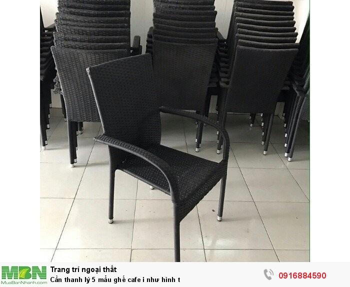 Cần thanh lý 5 mẩu ghế cafe i như hình