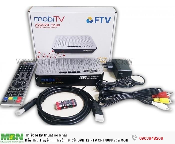 Trọn bộ gồm có:  Đầu thu FTV CFT-8888, dây HDMI, dây AV, adapter 12V/ 1A, remote, hướng dẫn sử dụng, phiếu bảo hành.
