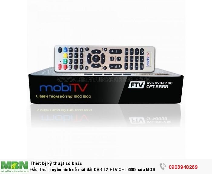 Đầu Thu DVB T2 FTV CFT 8888 của MOBI TV bán tại Điện Máy Hải BẢO HÀNH CHÍNH HÃNG 1 NĂM ĐỔI  MỚI GIAO HÀNG VÀ LẮP ĐẶT MIỄN PHÍ TPHCM. CÓ GIÁ SỈ ĐẠI LÝ