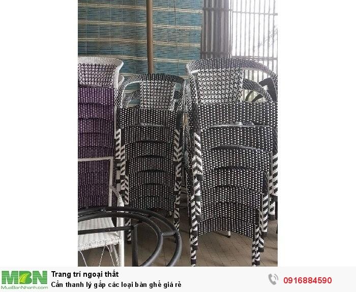 Cần thanh lý gấp các loại bàn ghế giá rẻ4