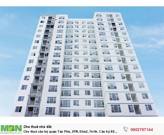 Cho thuê căn hộ quận Tân Phú, 2PN, 65m2, 7tr/th. Căn hộ 8X Rainbown