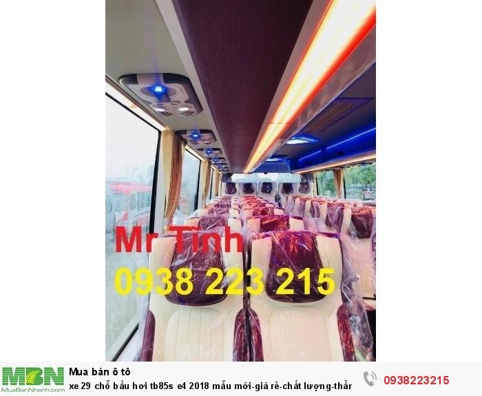 Xe 29 chỗ bầu hơi tb85s e4 2019 mẫu mới-giá rẻ-chất lượng-thẩm mỹ-giao nhanh tại Sài Gòn 10
